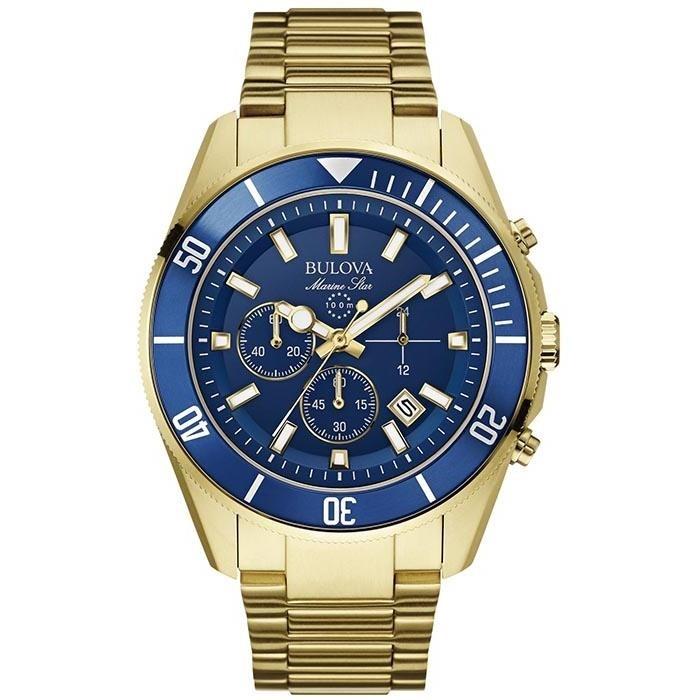 9535ab49cdc Relógio Bulova Masculino Ref  Wb31774z Marine Star Dourado - Relógios Web  Shop ...