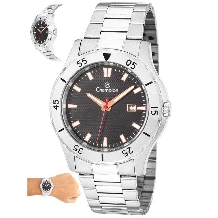 f11f6655230 Relógio Champion Masculino Ref  Ca31337t Casual Prateado