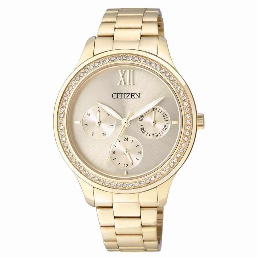 ecb667daeb1 Relógios Web Shop Relógio Citizen Feminino Ref  Tz28342g Multifunção Dourado