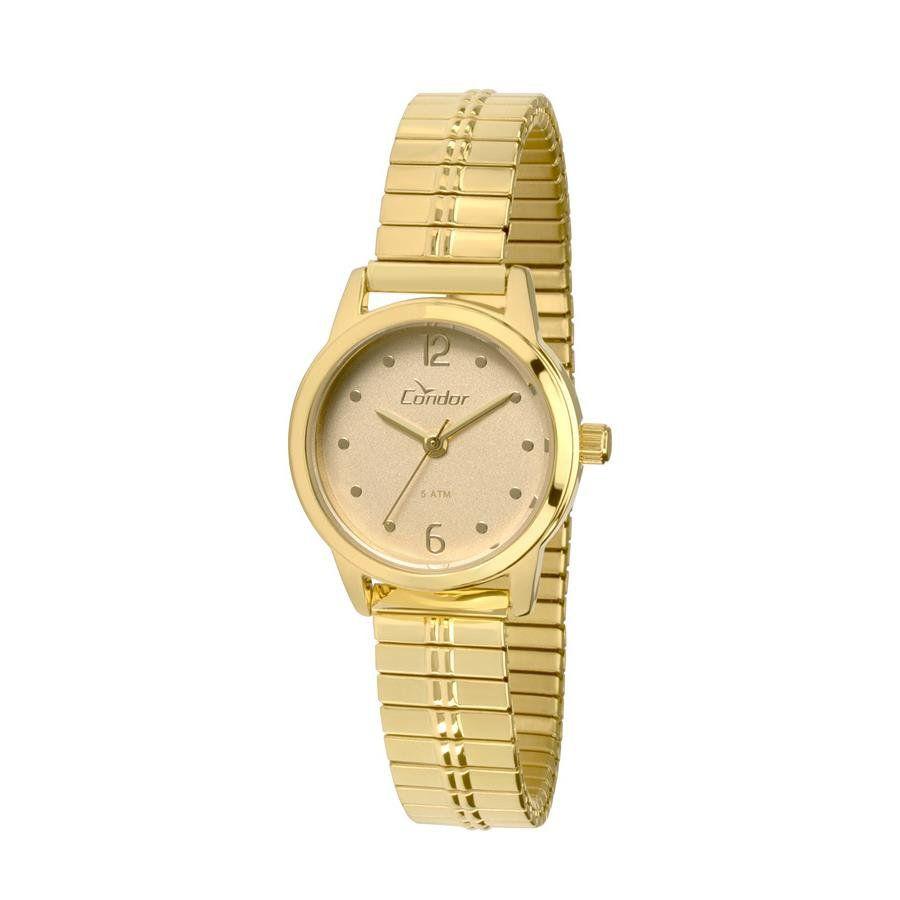 20c3646f26bd3 Relógios Web Shop Relógio Condor Feminino Ref  Co2035knf 4x Eterna Mini  Dourado