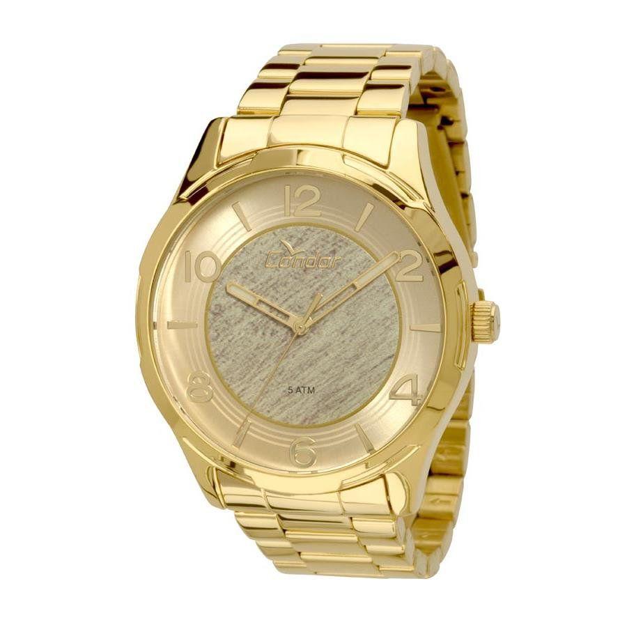 96610f1b189 Relógios Web Shop Relogio Condor Feminino Ref  Co2035knv 4x Casual Dourado