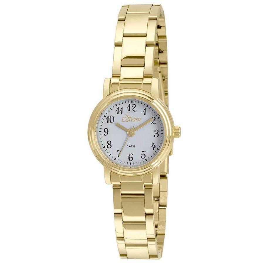 Relógios Web Shop Relógio Condor Feminino Ref  Co2035kua 4a Classico Dourado b9afaa2da0
