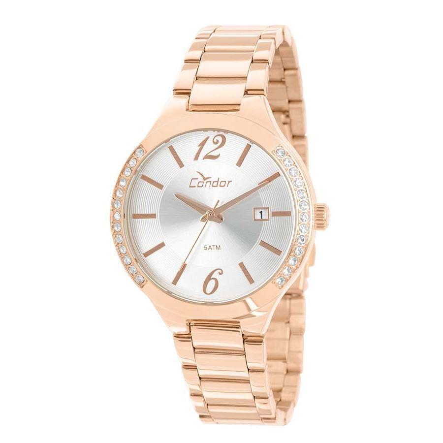 37a747e8d53 Relógios Web Shop Relógio Condor Feminino Ref  Co2115yk k4k Rosé Kit  Gargantilha