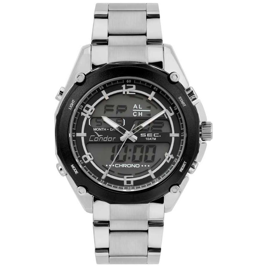 bd98321da15 Relógios Web Shop Relogio Condor Masculino Ref  Coy121e6ac 3p Anadigi  Prateado