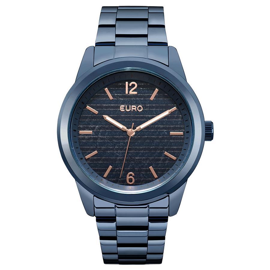 7b614f96a8f Relógio Euro Feminino Ref  Eu2033aq 4a Fashion Azul - Relógios Web Shop