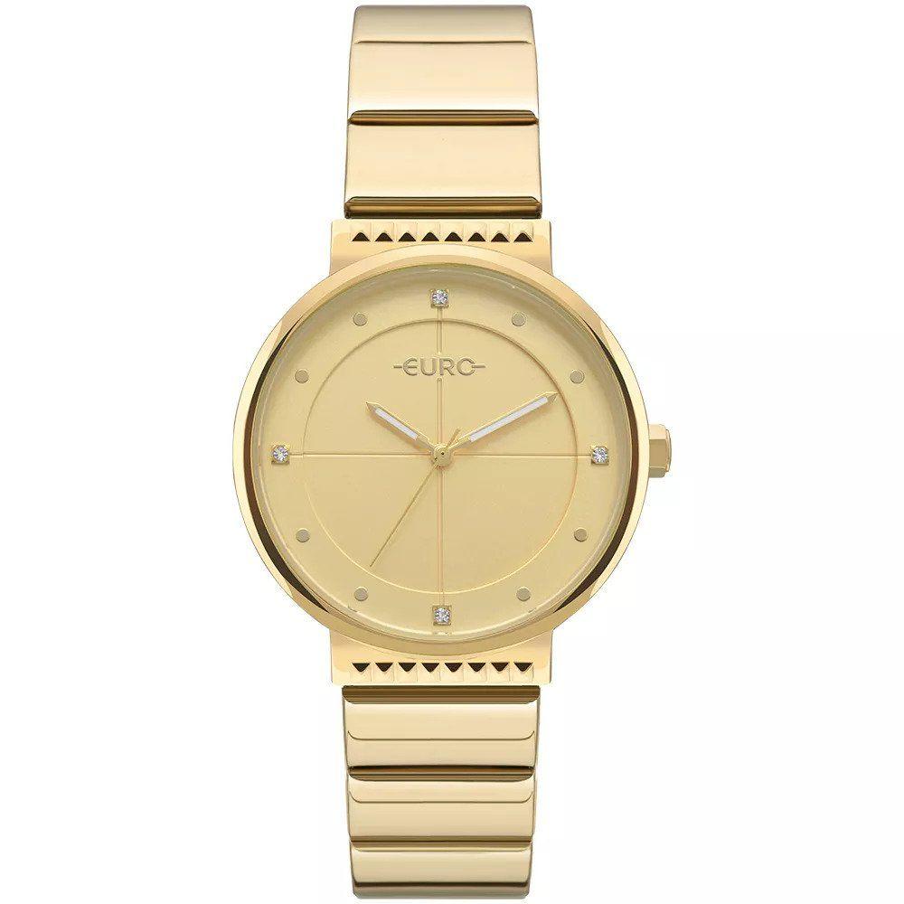 ad6875a5702 Relógio Euro Feminino Ref  Eu2035yoa 4d Slim Dourado - Relógios Web Shop