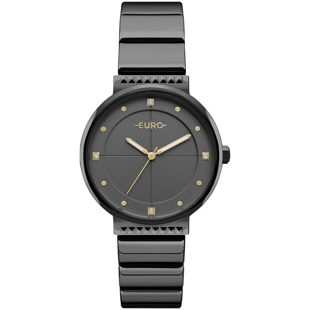 5fc6bfd08e1 Relógio Euro Feminino Ref  Eu2035yob 4p Slim Black - Relógios Web Shop