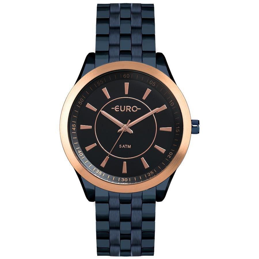 760e8374743 Relógios Web Shop Relógio Euro Feminino Ref  Eu2035yox 4a Slim Azul
