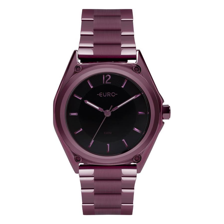 dec09a85d7b Relógios Web Shop Relógio Euro Feminino Ref  Eu2035ypm 4p Color Mix Roxo