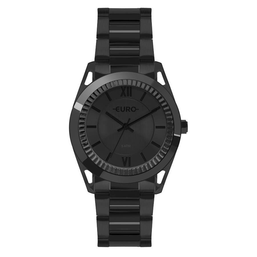 eaa74e7a6ba Relógios Web Shop Relógio Euro Feminino Ref  Eu2035yps 4p Metal Frame Preto