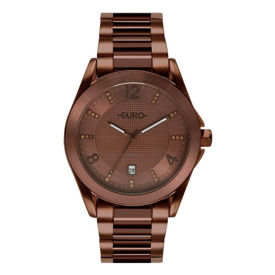 1763ae2306 Relógios Web Shop Relógio Euro Feminino Ref  Eu2315hp 4m Color Mix Shine  Marrom