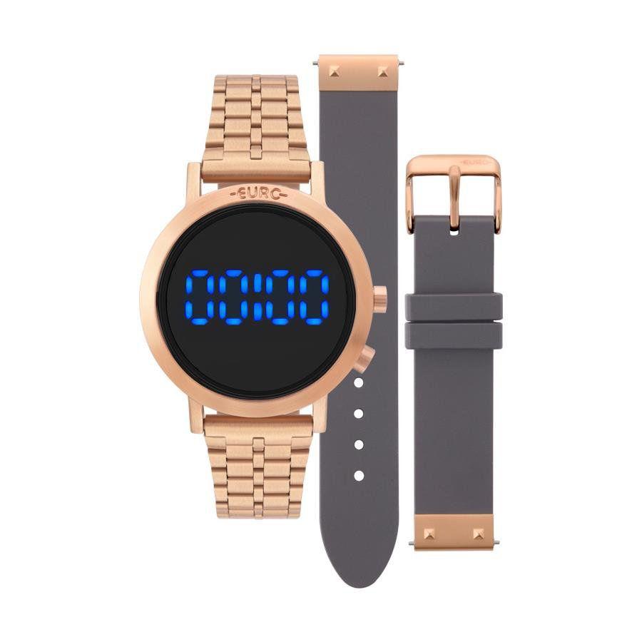 5656bebb225 Relógio Euro Feminino Ref  Eubj3407ac t4f Digital Fashion Fit Rosé -  Relógios Web Shop ...