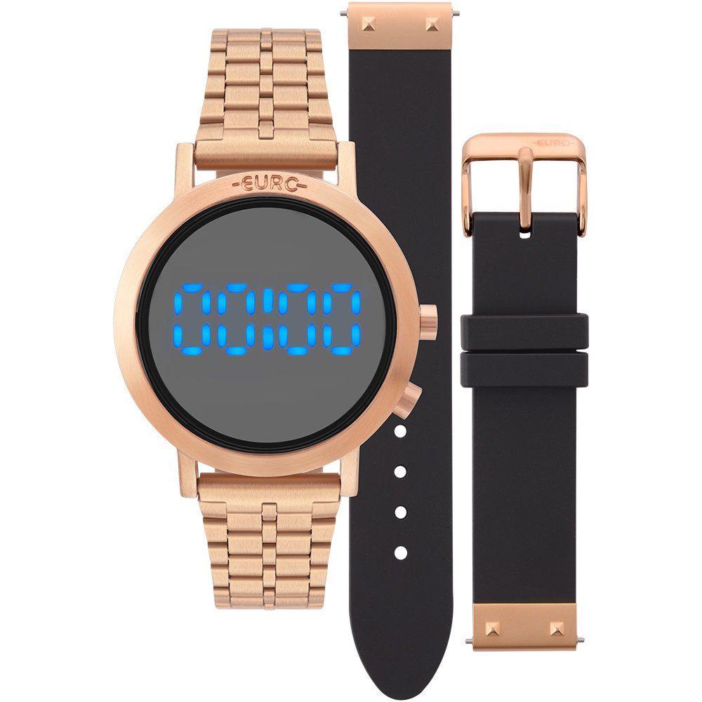 64ab3c24f1e Relógios Web Shop Relógio Euro Feminino Ref  Eubj3407ac t4p Digital Led Rosé
