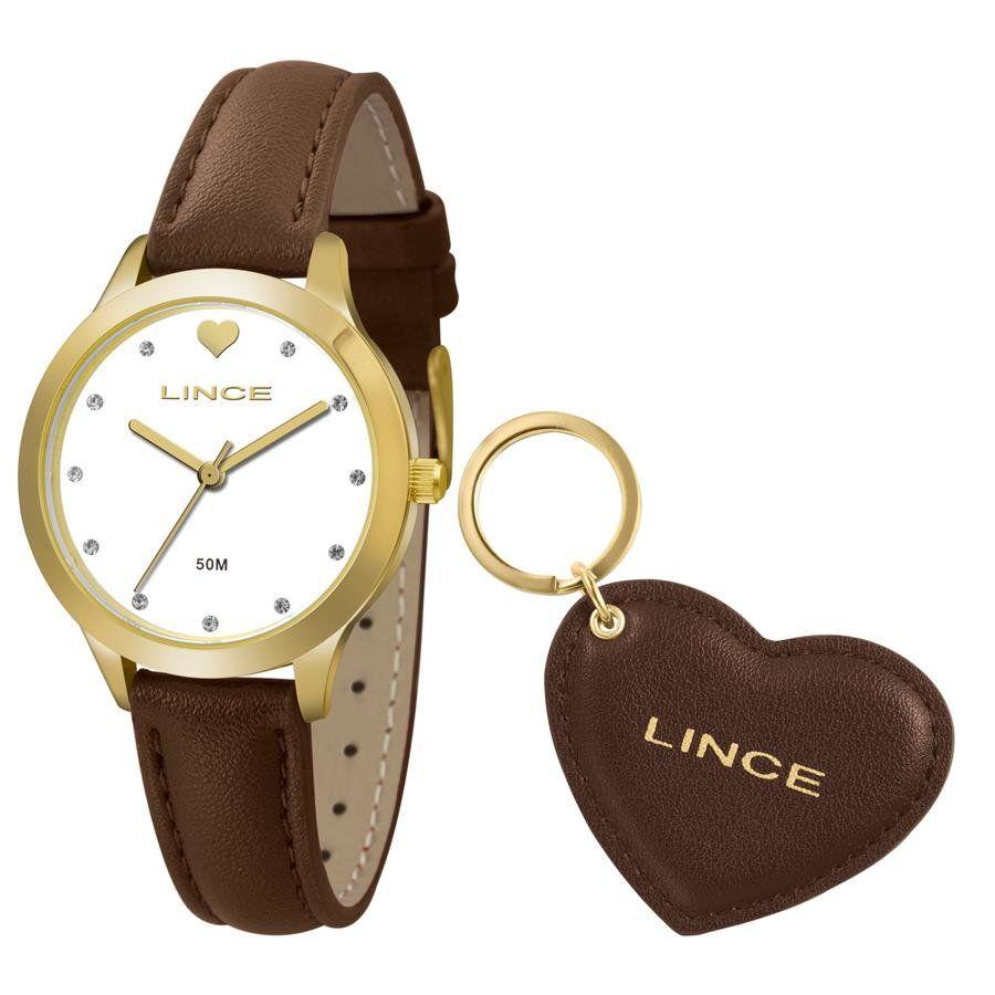 7fbe3e2f47e Relógios Web Shop Relógio Lince Feminino Ref  Lrc4508l Ku60b1nx Dourado +  Chaveiro