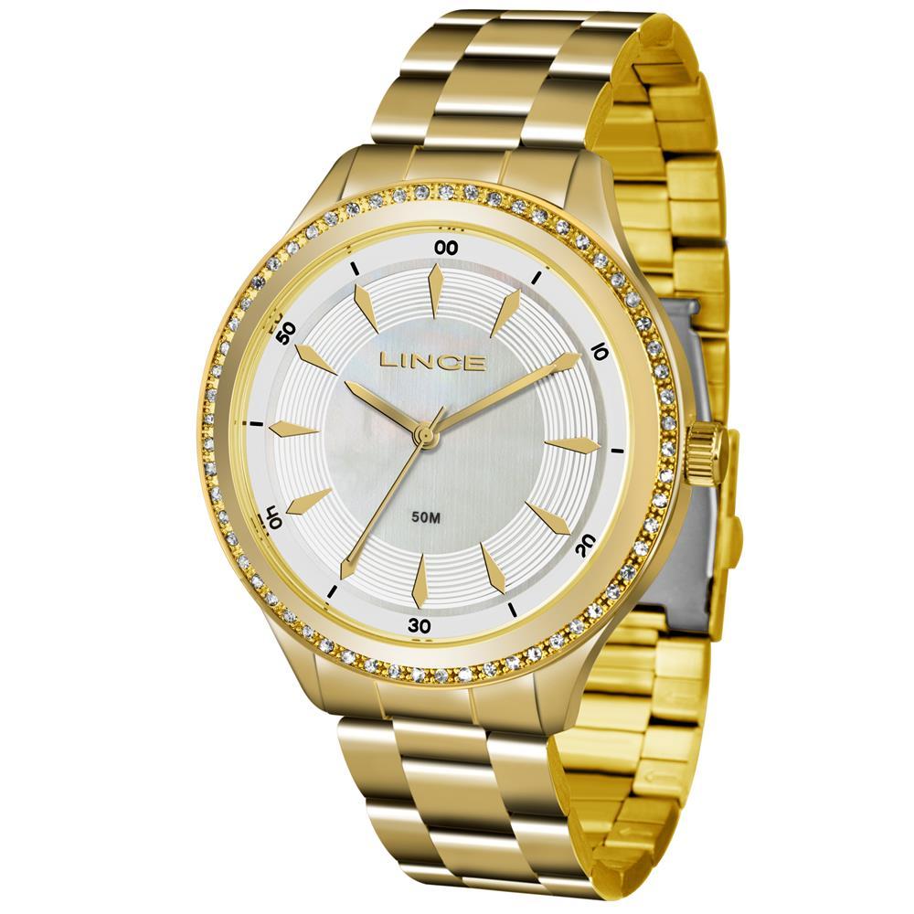 8c77fb2ed14 Relógios Web Shop Relógio Lince Feminino Ref  Lrg4427l B1kx Casual Dourado