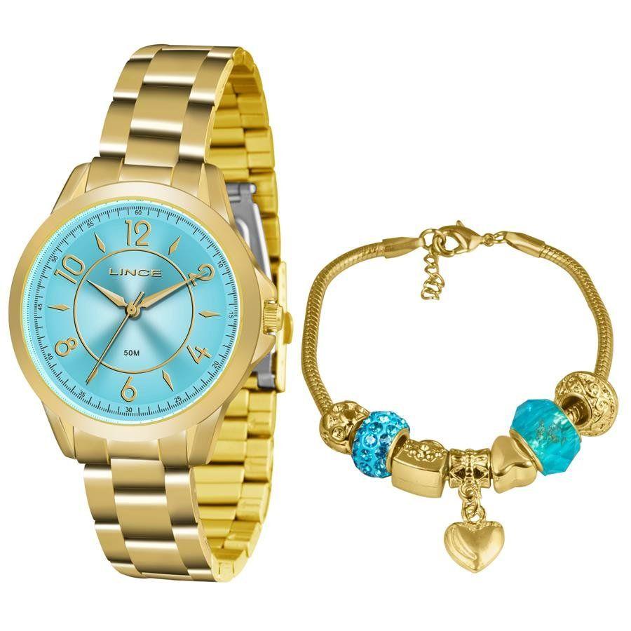 c601a6bce63 Relógios Web Shop Relógio Lince Feminino Ref  Lrg4504l Ku50a2kx Dourado +  Semijóia