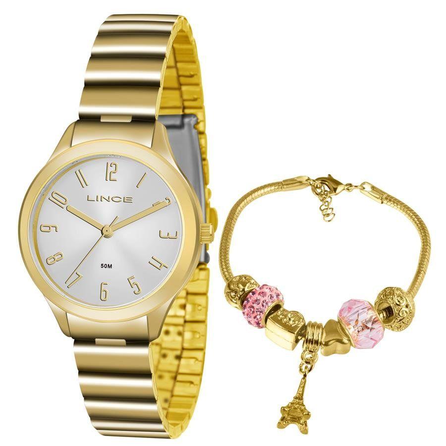 6f397c311ce Relógios Web Shop Relógio Lince Feminino Ref  Lrg4507l Ku45s2kx Dourado +  Semijóia