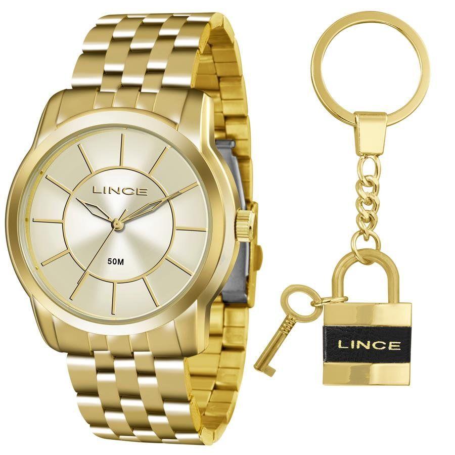 32d360e86cd Relógios Web Shop Relógio Lince Feminino Ref  Lrg4510l Ku54c1kx Dourado +  Chaveiro