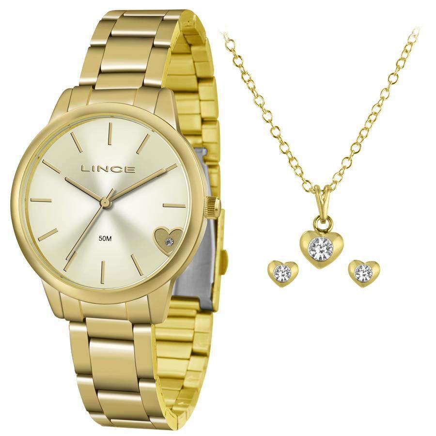 bfa7ffe63e4 Relógios Web Shop Relógio Lince Feminino Ref  Lrg4559l Kv40c1kx Dourado +  Semijóia