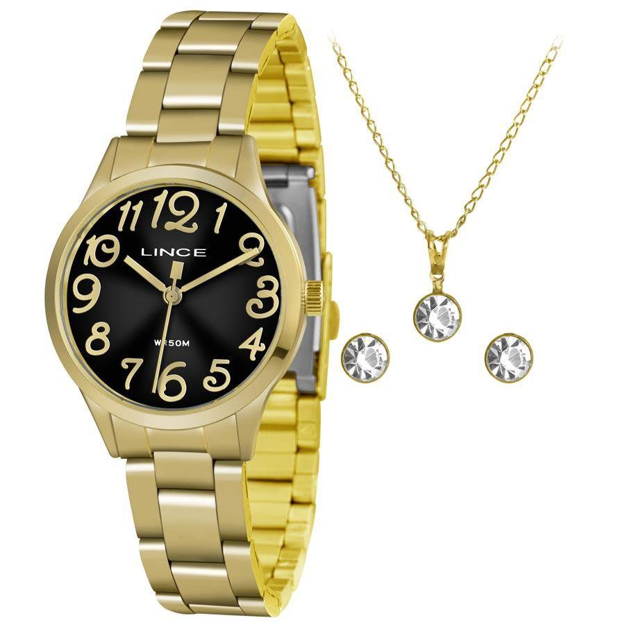 105258d5011 Relógios Web Shop Relógio Lince Feminino Ref  Lrgh077l Kv24p2kx Dourado +  Semijóia