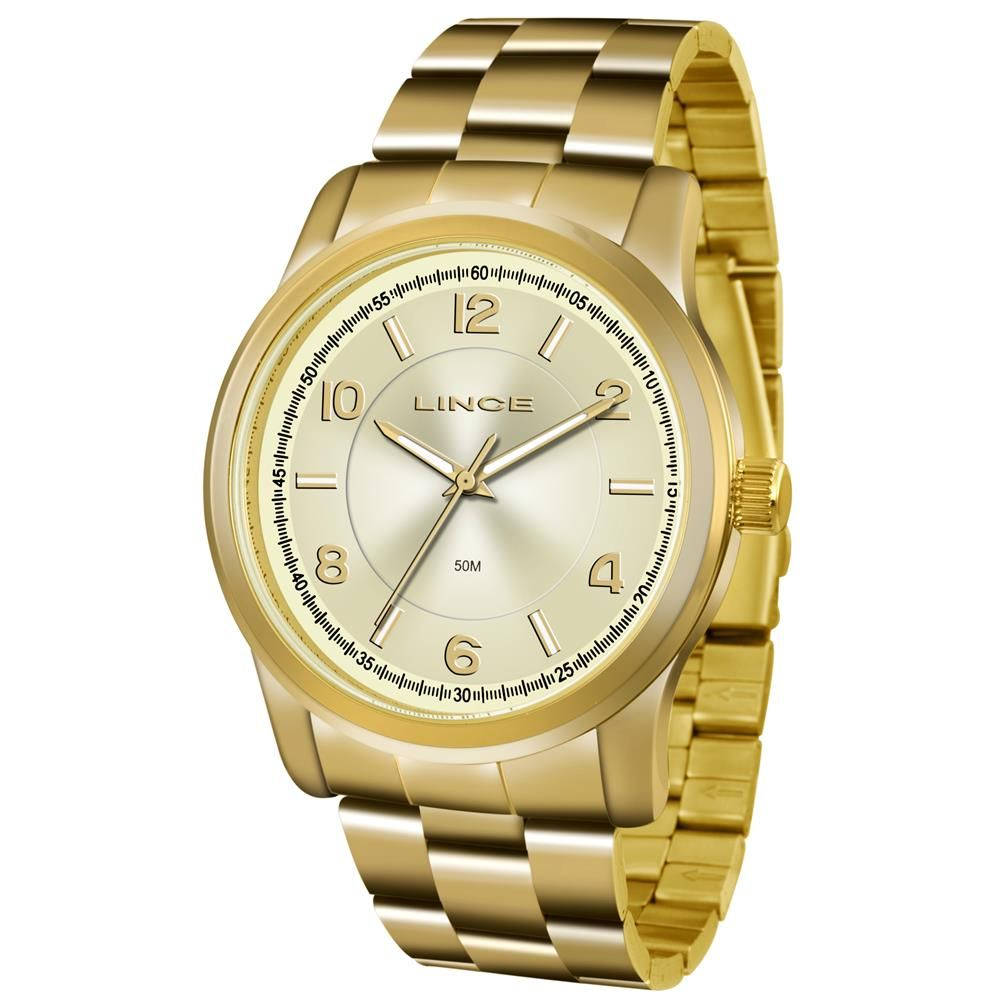 b1ba56d42bf Relógio Lince Feminino Ref  Lrgj066l C2kx Casual Dourado - Relógios Web Shop