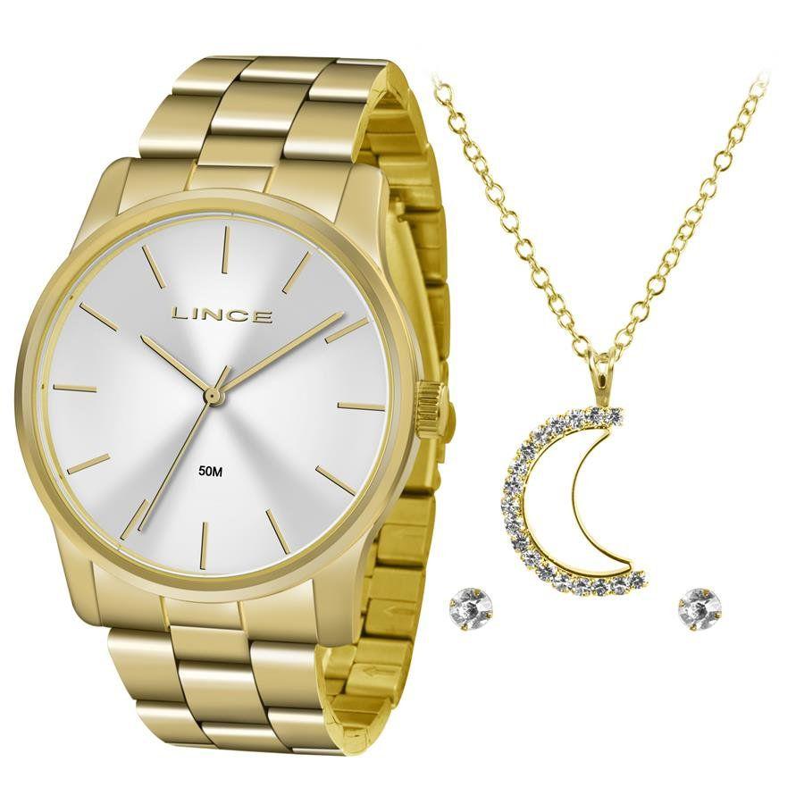 ffe05a69570 Relógios Web Shop Relógio Lince Feminino Ref  Lrgj078l Kv57s1kx Dourado +  Semijóia
