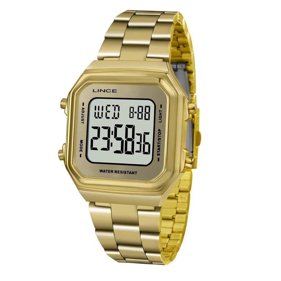 2a8a432896a Relógios Web Shop Relógio Lince Feminino Ref  Sdg616l Bxkx Digital Dourado