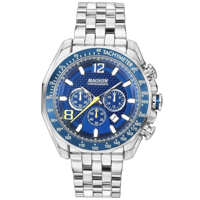 db0ec0213f8 Relógios Web Shop Relógio Magnum Masculino Ref  Ma32167f Cronógrafo Prateado