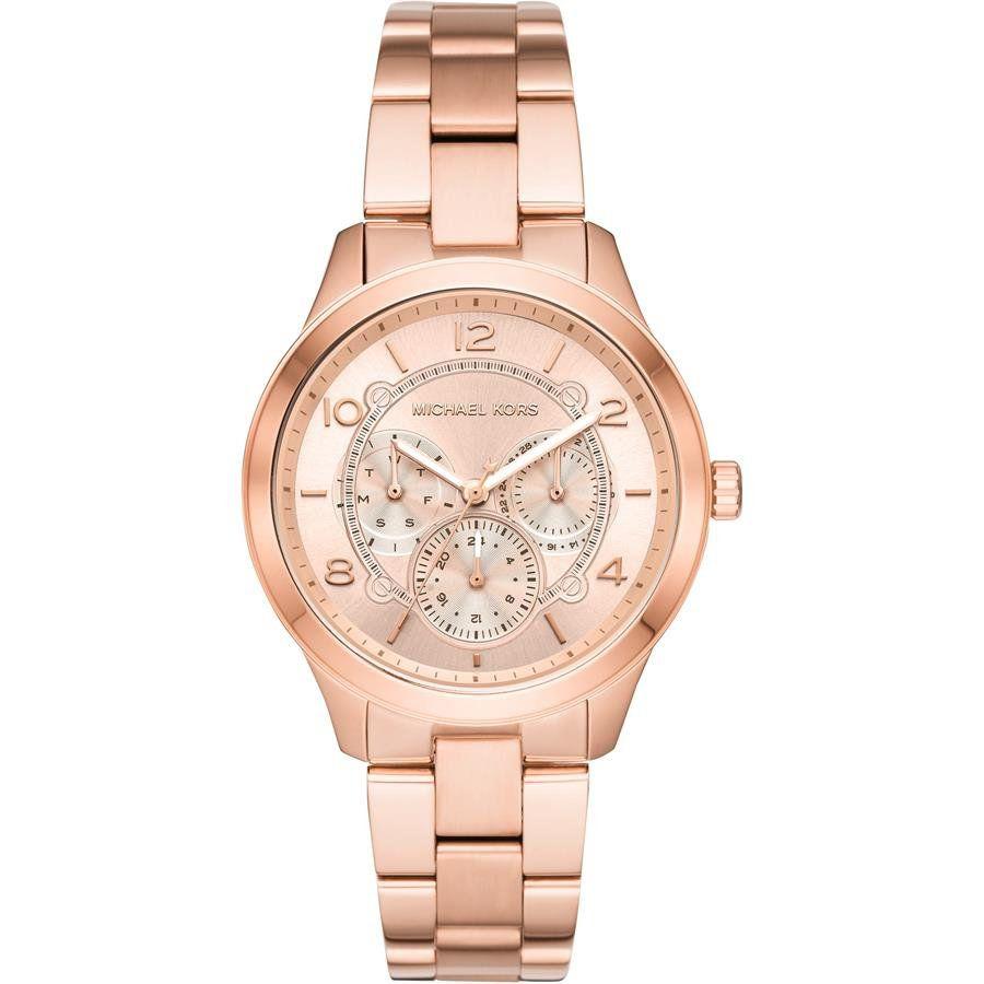 d2e91d4318559 Relógio Michael Kors Feminino Ref  Mk6589 1jn Fashion Multifunção Rosé -  Relógios Web Shop ...