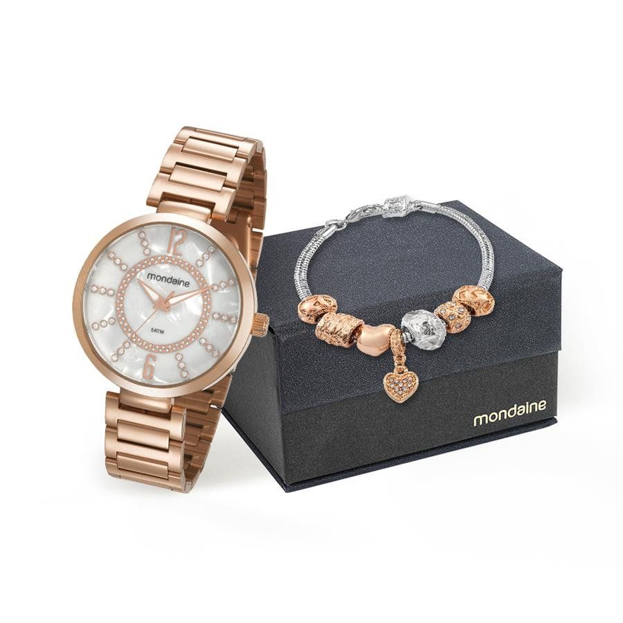 5f61688d28f Relógios Web Shop Relogio Mondaine Feminino Ref  53617lpmkre4 Rosé +  Semijóia