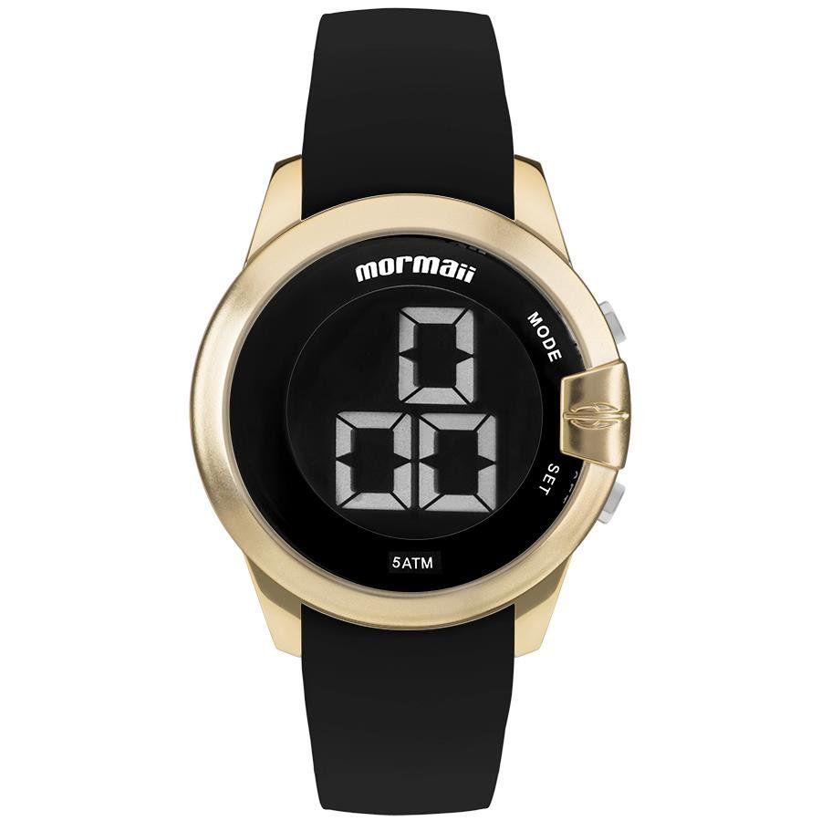 3423ef46e9670 Relógios Web Shop Relógio Mormaii Feminino Ref  Mobjt007 8d Digital Dourado