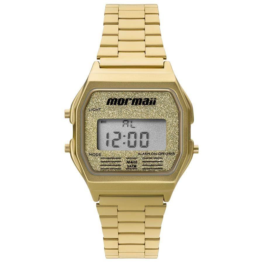 51f652f348609 Relógios Web Shop Relógio Mormaii Feminino Ref  Mojh02ad 4b Digital Dourado