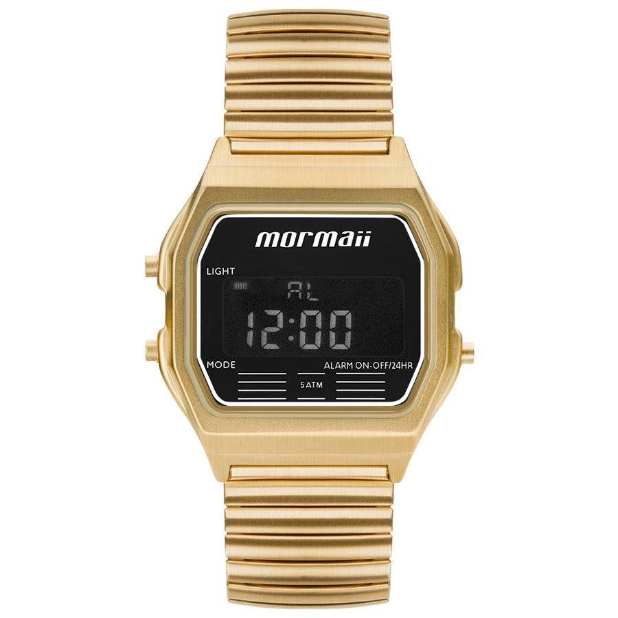 4327352e7483a Relógios Web Shop Relógio Mormaii Feminino Ref  Mojh02au 4d Retrô Dourado