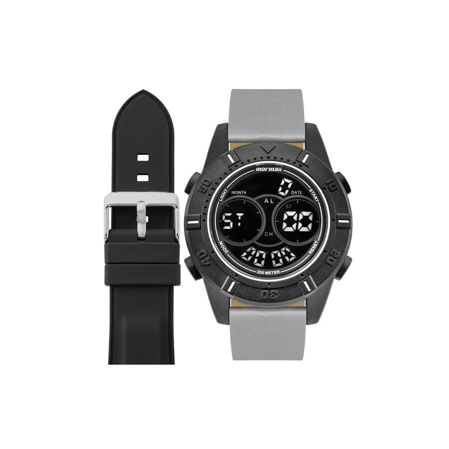 26feb489138ba Relógios Web Shop Relógio Mormaii Masculino Ref  Mo1608ab t8c Kit Pulseira  extra