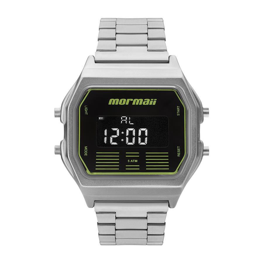 Relógios Web Shop Relógio Mormaii Masculino Ref  Mobj3715b 3p Retrô Prateado 56d03abb23