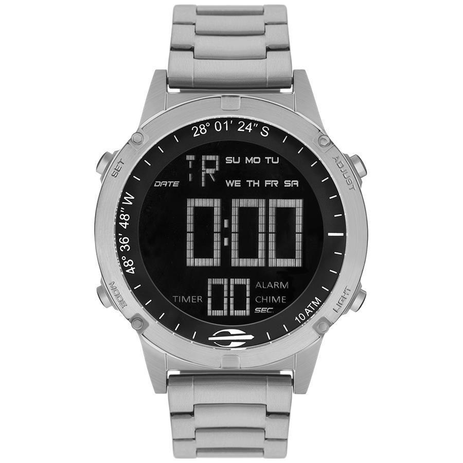 Relógios Web Shop Relógio Mormaii Masculino Ref  Mow13901 1p Slim Surf  Prateado da88aafb8e