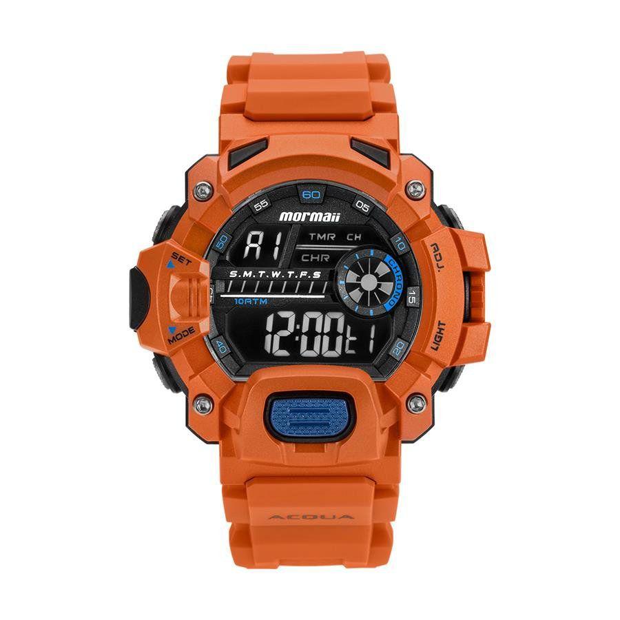9688965de9 Relógios Web Shop Relógio Mormaii Masculino Ref  Mozm1132 8l Acqua Laranja