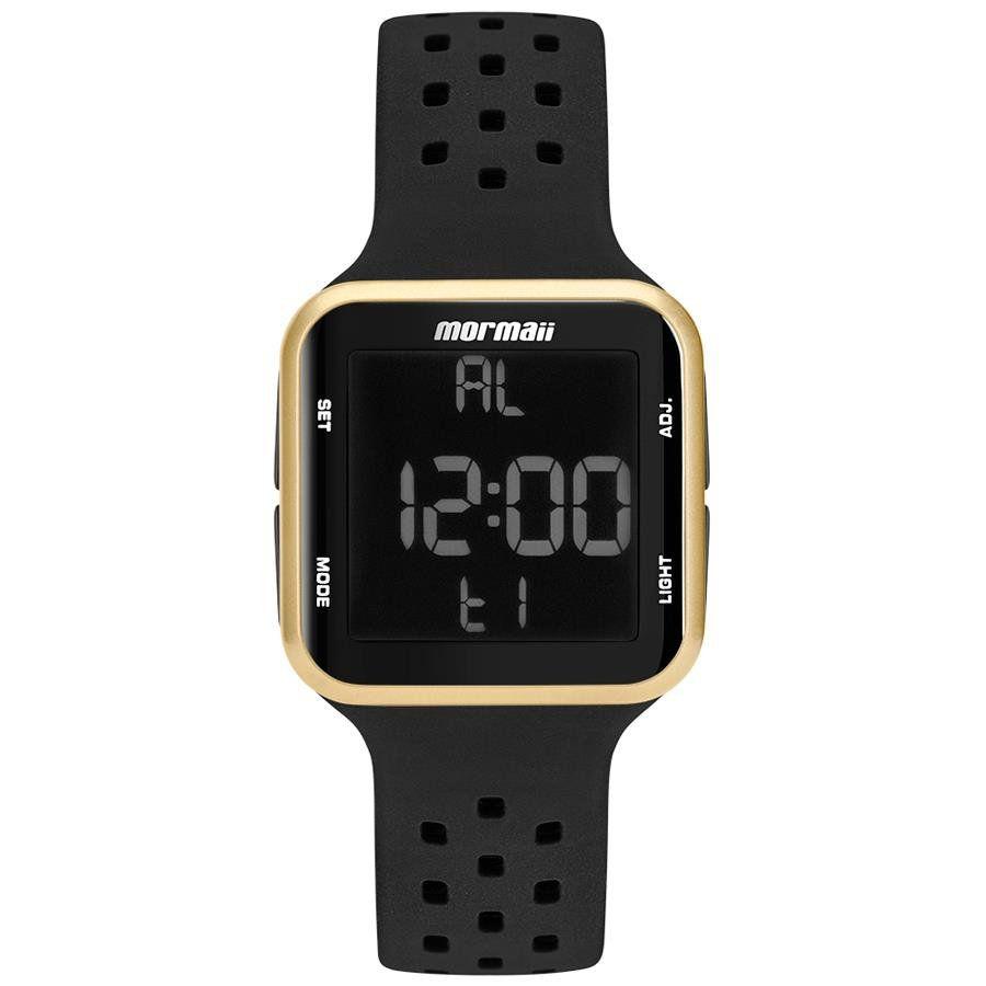 b800d6346645e Relógios Web Shop Relógio Mormaii Ref  Mo6600 8d Digital Dourado