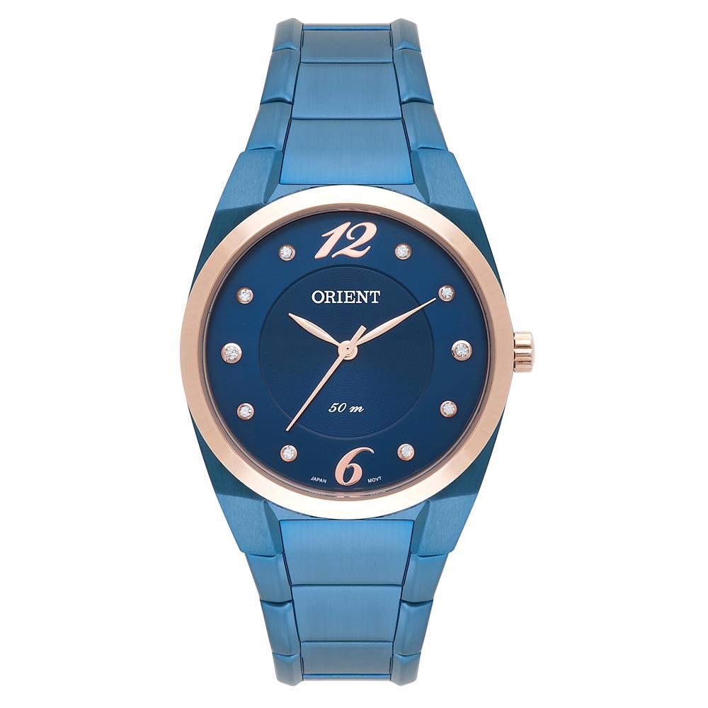 a1a4bcde21df2 Relógio Orient Feminino Ref  Fass0001 D2dx Azul - Relógios Web Shop