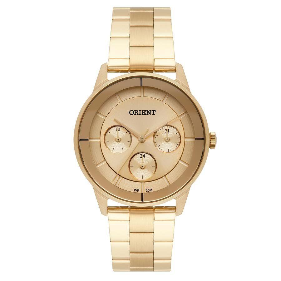 fcdf6cdc331 Relógios Web Shop Relógio Orient Feminino Ref  Fgssm057 K1kx Multifunção  Dourado