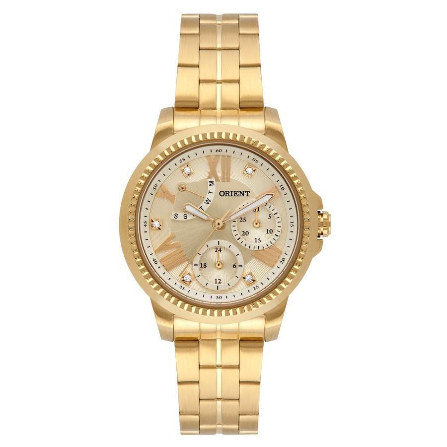 3ad266f61ed Relógio Orient Feminino Ref  Fgssm064 C3kx Multifunção Dourado - Relógios  Web Shop