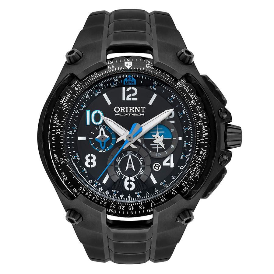 1d7a74d4ec5 Relógio Orient Masculino Ref  Mpttc001 P2px Flytech Titânio Cronógrafo  Black - Relógios Web Shop
