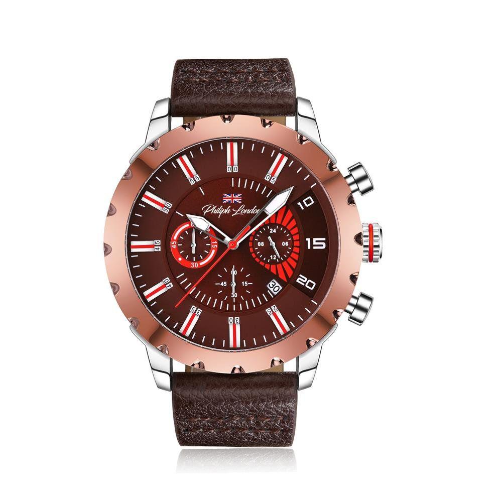 2b2a01c5269 Relógio Philiph London Masculino Ref  Pl80012632m Cronógrafo Bicolor -  Relógios Web Shop ...