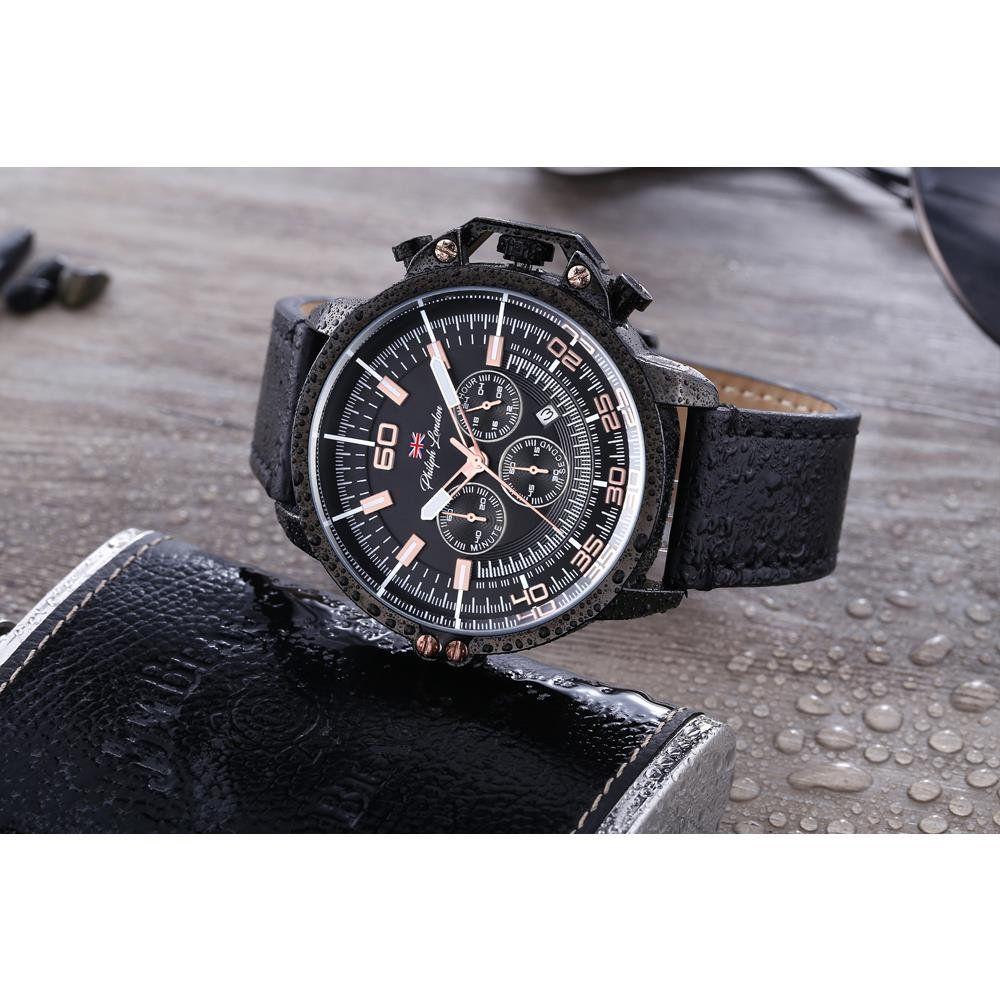 f0e4ce9e5ec ... Relógio Philiph London Masculino Ref  Pl80034612m Cronógrafo Black -  Relógios Web Shop ...