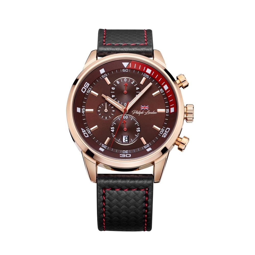 72230bbcf5f Relógios Web Shop Relógio Philiph London Masculino Ref  Pl80051612m Mr  Cronógrafo Rosé