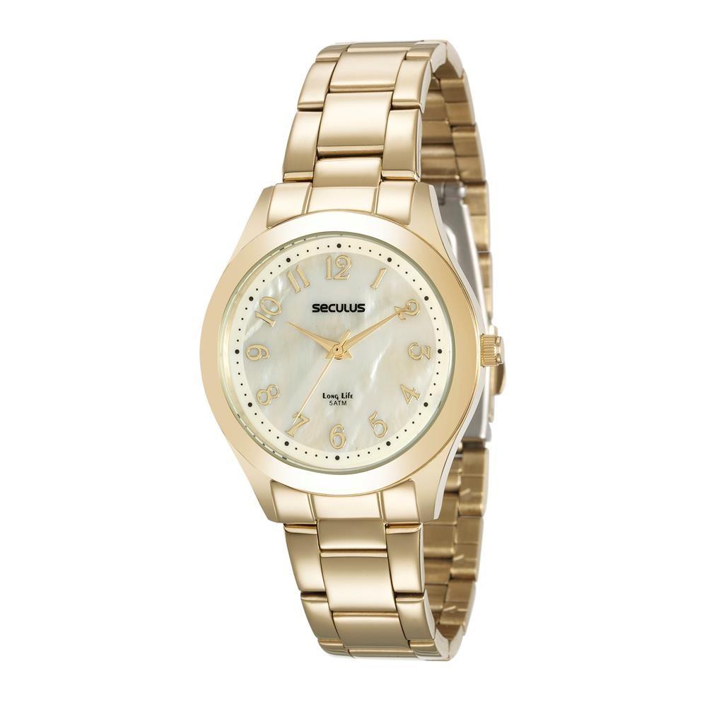 Relógios Web Shop Relógio Seculus Feminino Ref  20537lpsvda1 Casual Dourado 8d3444268f