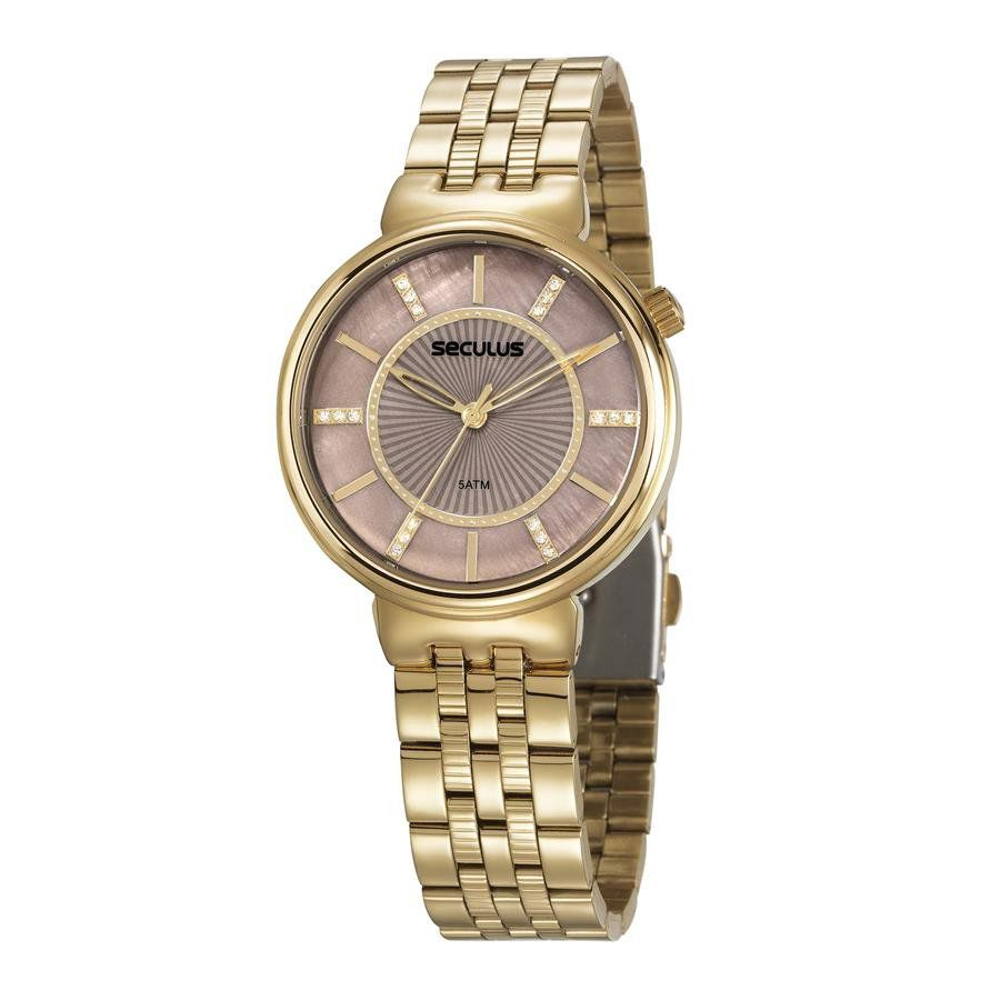Relógio Seculus Feminino Ref  20625lpsvds2 Casual Dourado - Relógios Web  Shop ... 871fe654ad