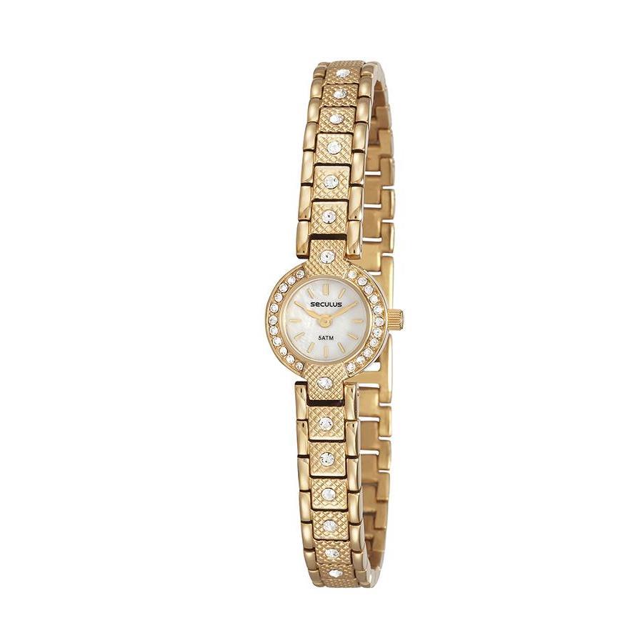 Relógios Web Shop Relógio Seculus Feminino Ref  23592lpsvda1 Social Mini  Dourado 42e326c42c
