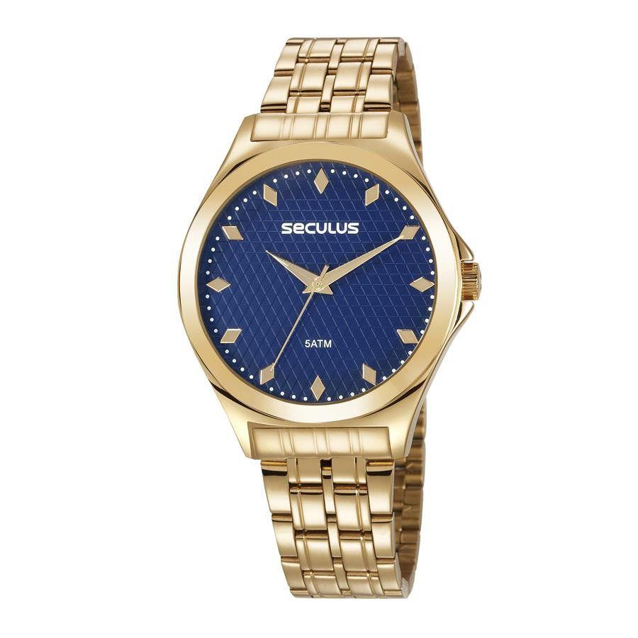 Relógio Seculus Feminino Ref  23632lpsvds1 Casual Dourado - Relógios Web  Shop ... e84e6395f9