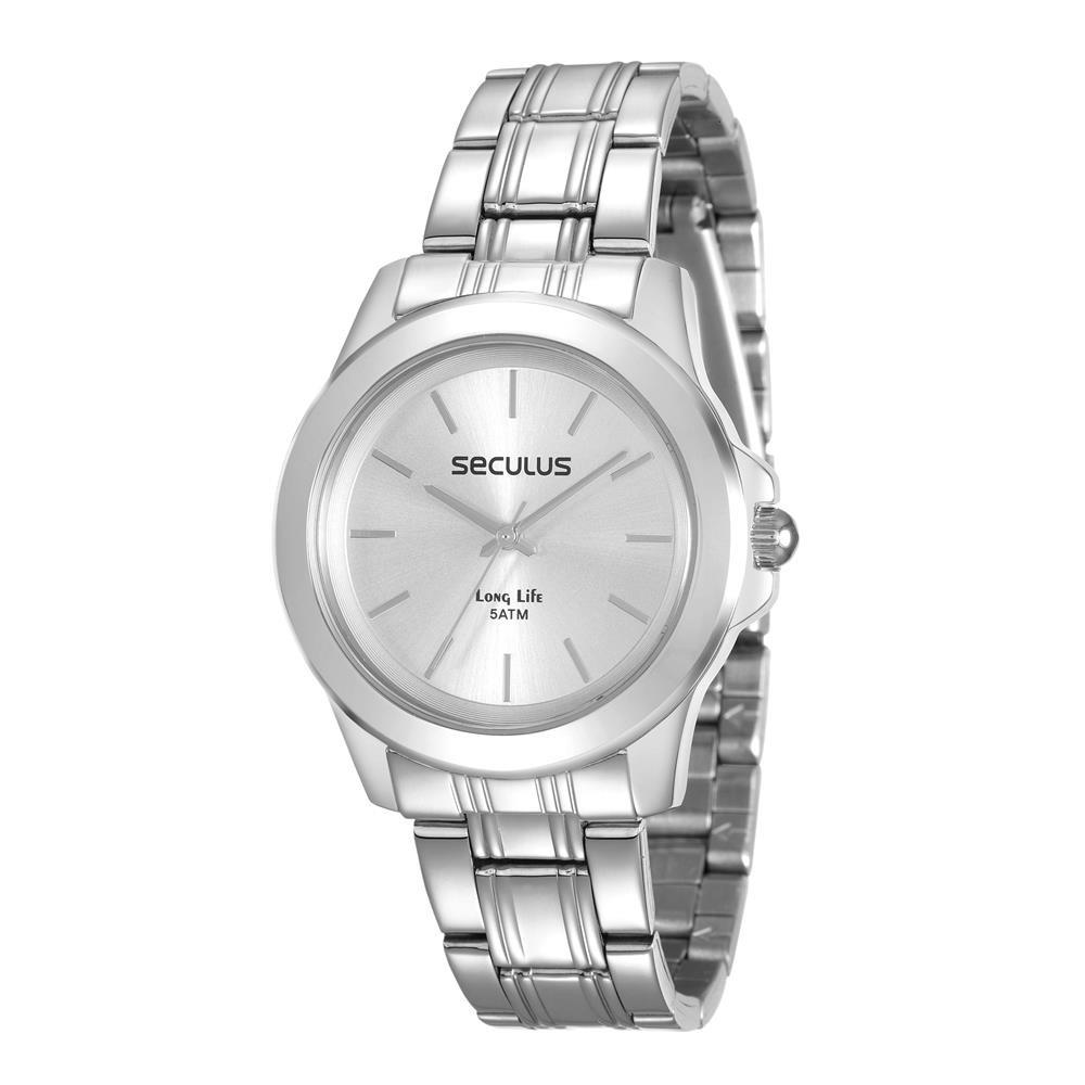 Relógios Web Shop Relógio Seculus Feminino Ref  28876l0svna3 Casual Prateado d0894ce7ab